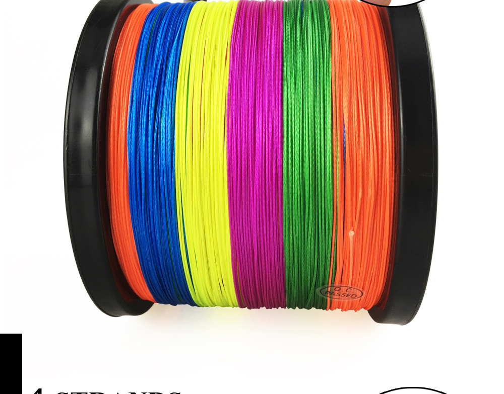 Multicolor 8 Strands 300M 500M 1000M PE Braid Fishing Line Sea Saltwater Fishing Weave 100% SuperPower JOF 17