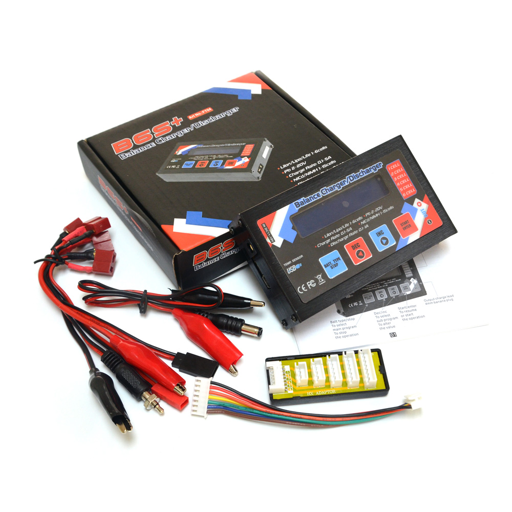 HTRC B6S+ 50W 5A B6 S+ 1-6s LiPo/ Li-Ion/ Li-Fe Battery RC Battery Balance Charger Discharger Fast DC Charger 1s 2s 3s 4s 5s 6s 7s 8s lipo battery balance connector for rc model battery esc