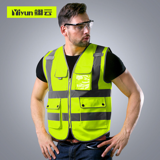 Safety protective coat for construction of reflective vest construction vehicle traffic road administration fluorescent clothes 2