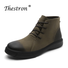 Winter with Fur Men Boots Non-Slip Work Boots Male Hard-Wearing Wearable Men Youth Casual Shoes Army Green Black Working Boots