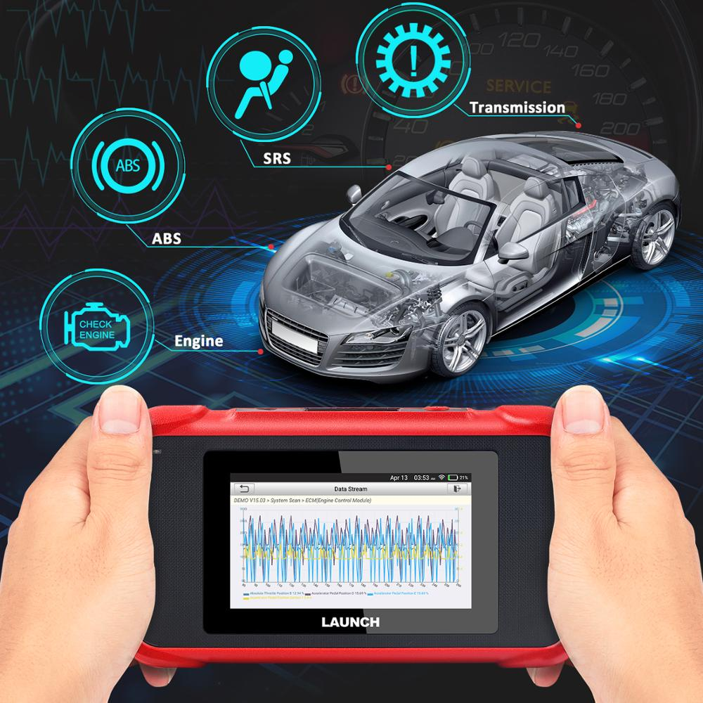 Image 2 - Launch X431 CRP129E CRP123E CRP129 CRP123 Creader VIII OBD2 diagnostic tool for ENG/AT/ABS/SRS Multi language free update on