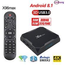 2019 x96 max Tvbox Android 8.1 4GB DDR4 Ram 64GB 4k Smart tv box x96max Amlogic s905x2 Quad Core Dual WIFI
