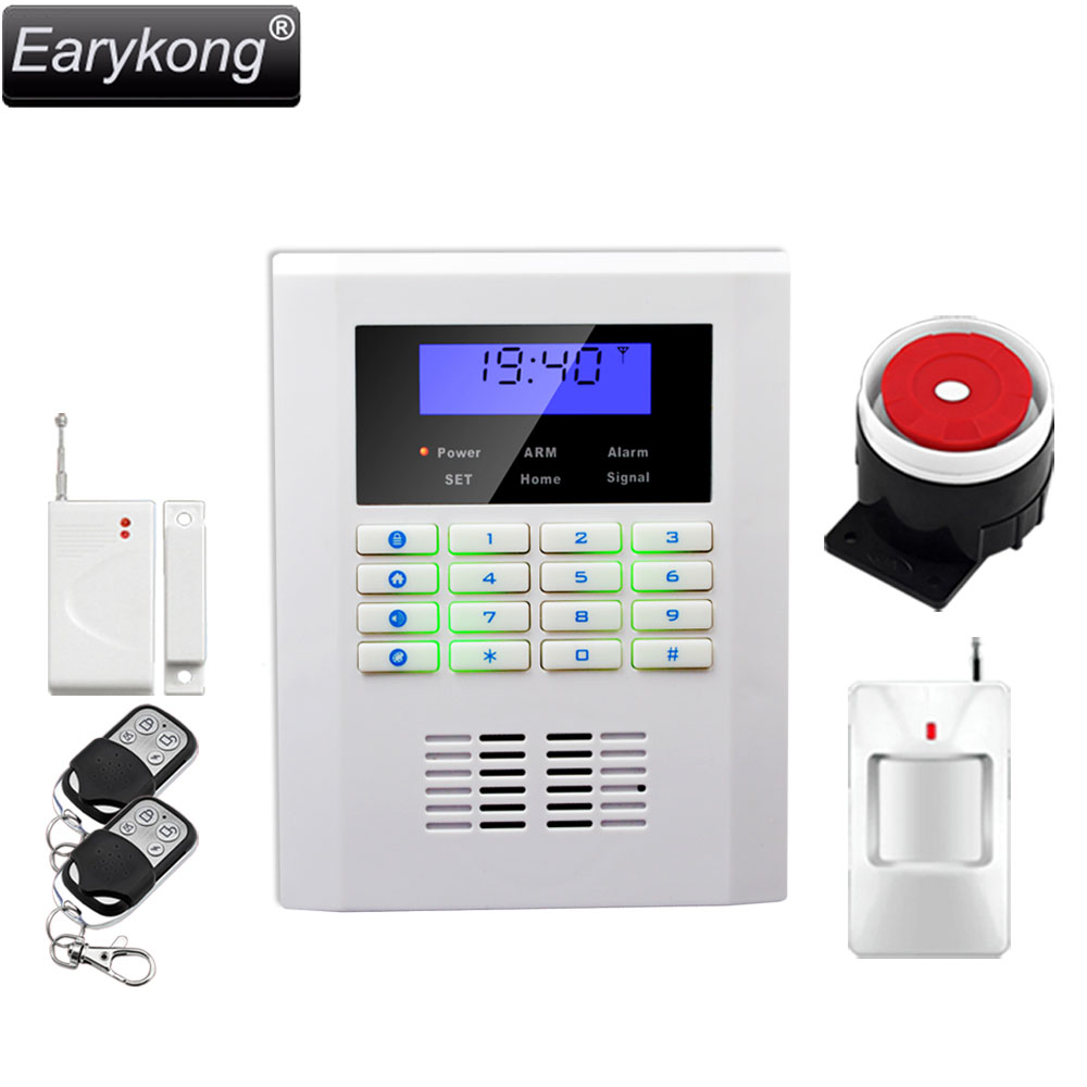 Russian language PSTN GSM alarm system, 433MHz wireless work, big promotions russian phrase book