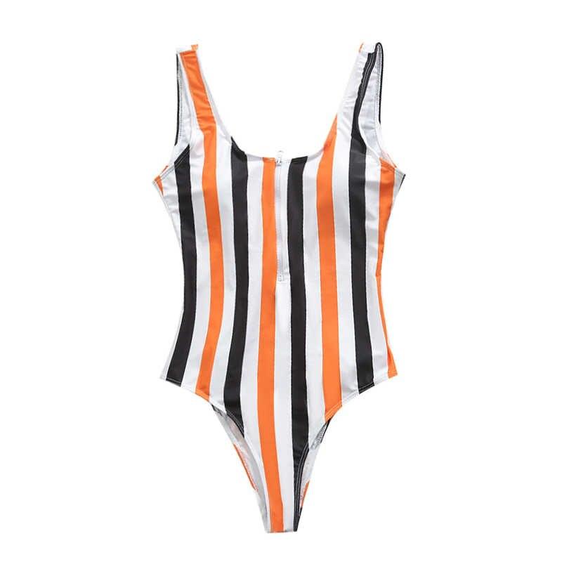 2019 Sexy Bergaris Pakaian Renang Satu Potong Pakaian Renang Wanita Backless Monokini Baju Renang Olahraga Baju Pantai Baju Renang Berenang Merah