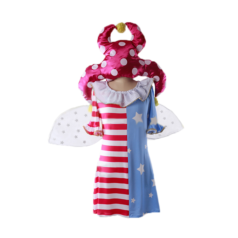 Touhou project Legacy of Lunatic Kingdom Clownpiece cosplay costume with socks and hat