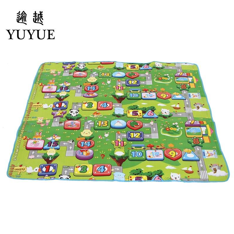 150*180cm waterproof aluminum picnic mat cartoon design for children climb mats baby crawls cushioning mat playmat 3