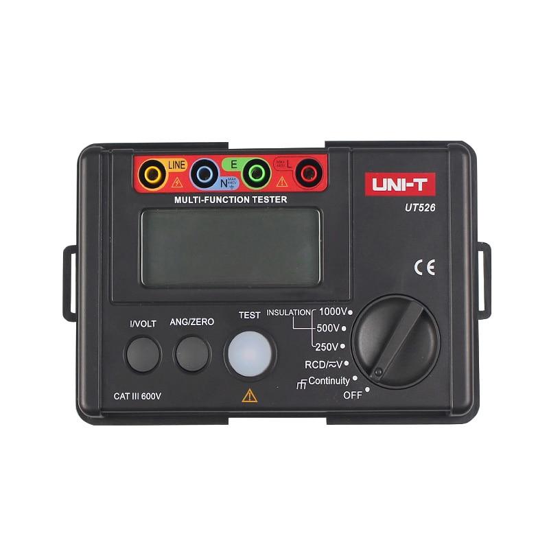 UNI-T UT526 Multi-fonction numérique compteur électrique Électrique Testeur D'isolement UT526 Terre Résistance Mètre + RCD Test Machine