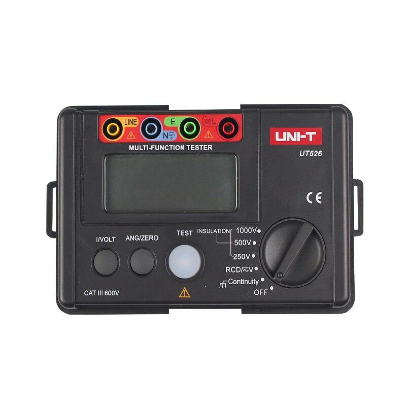 UNI-T UT526 compteur électrique numérique multifonction testeur d'isolation électrique UT526 compteur de résistance à la terre + Machine d'essai RCD