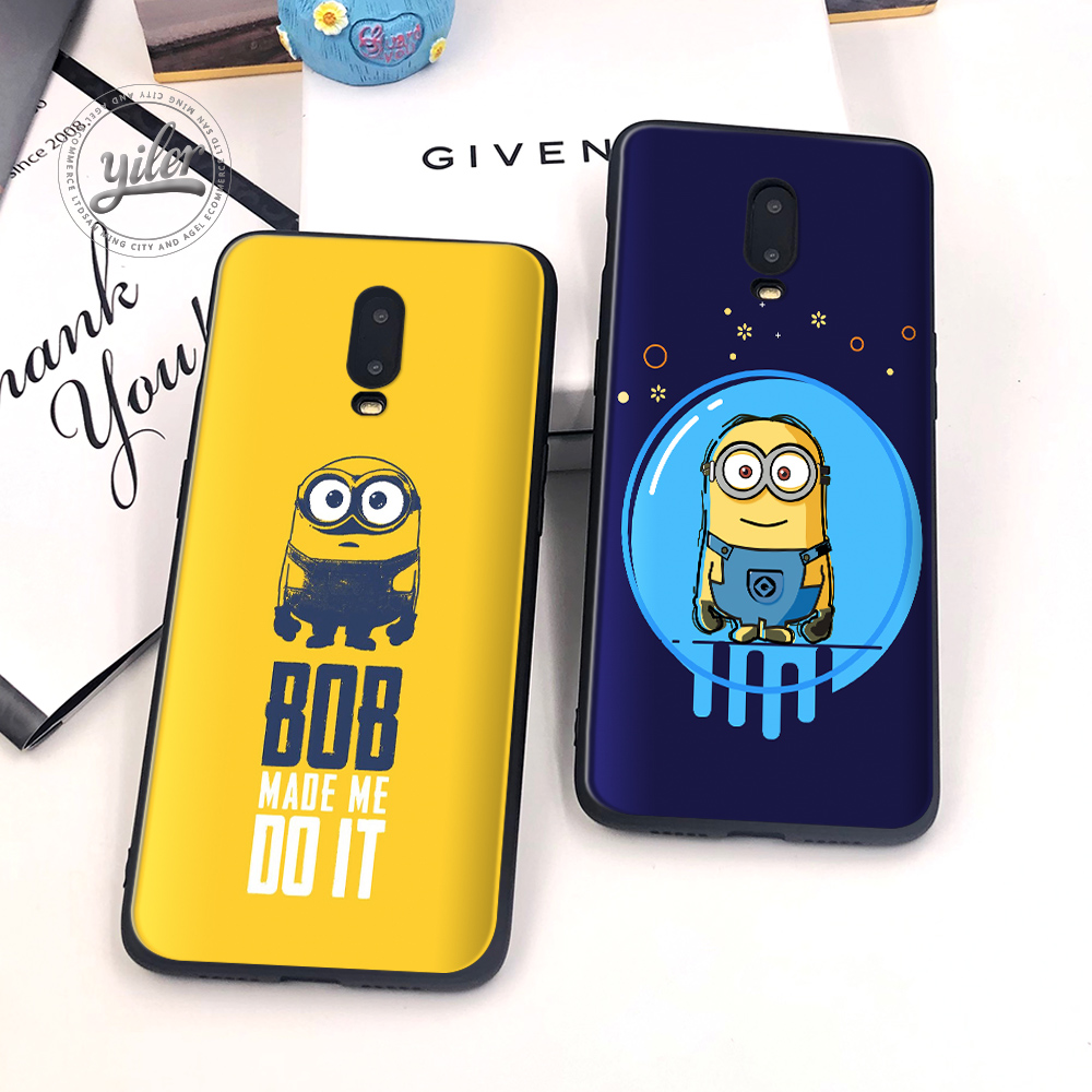 Fashion Minion Coque For Case Oneplus 6T 7 Cases Cover Soft Silicone for Phone 1+6T Capa