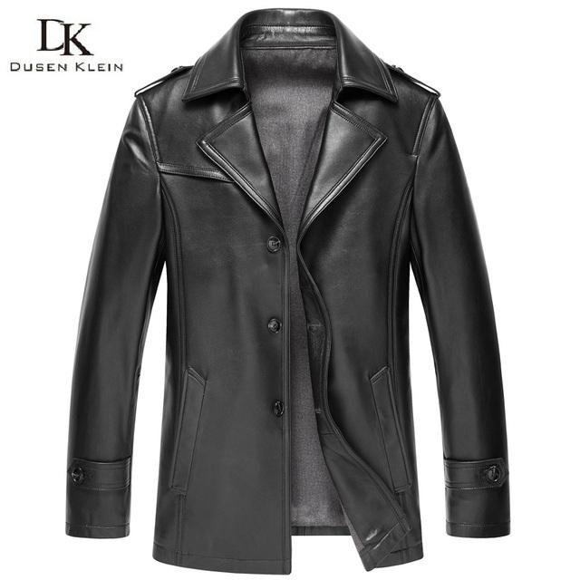 2016 Nueva primavera Diseñador de la Marca de piel de Oveja chaqueta de cuero Genuino hombres delgados abrigos de cuero 15N626