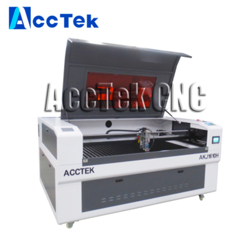 ACCTEK China 100w 130w 150w Cnc Laser Cutting Machine/co2 Laser Cutter AKJ1610H With Servo Motor