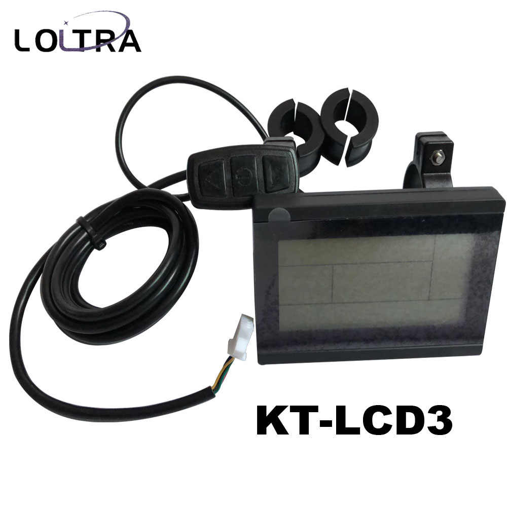Electric bicycle KT-LCD3 display 24V 36V 48V 60V 72V LCD Display Electric Bicycle Conversion Parts for KT LCD3 Controller
