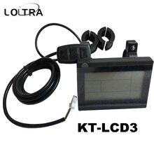 Bicicleta elétrica KT-LCD3 display 36 v 48 v 60 v 72 v display lcd peças de conversão para kt lcd3 controlador