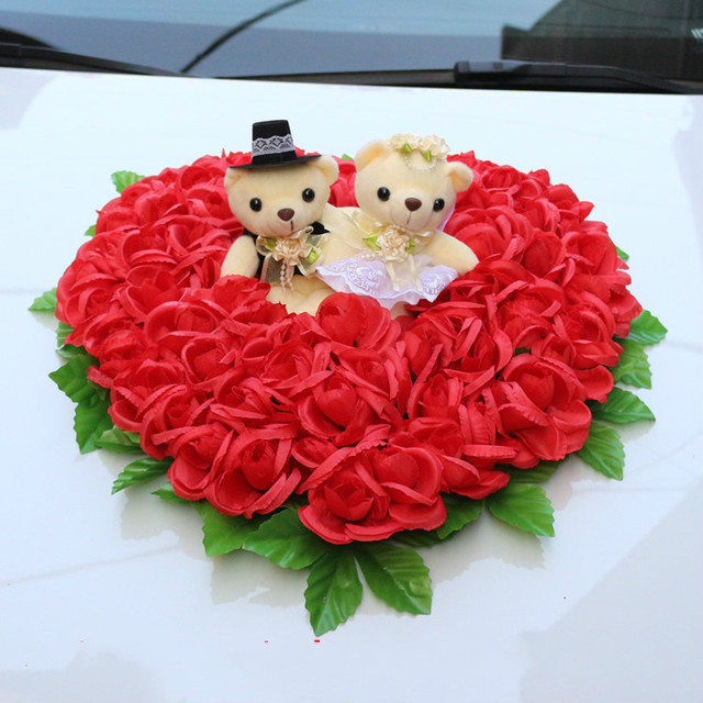 Korean Wedding Flowers: Korean Style Wedding Car Simulatin Flowers Wreath With