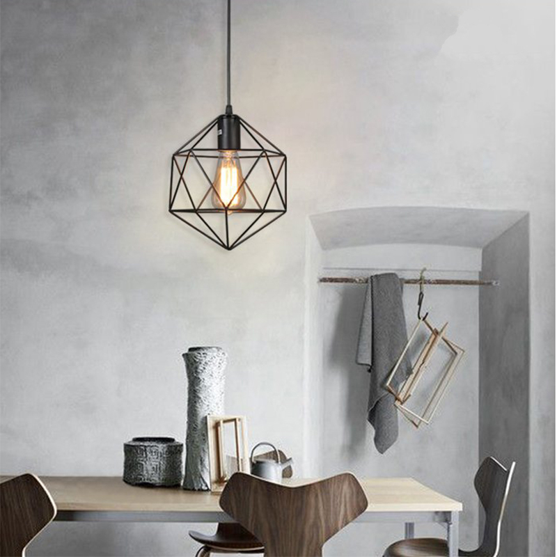 New Nordic Modern Iron Pendant Light Industrial Loft Retro Droplight Bar Cafe Bedroom Country Style Lamp E27 220v For Decor new vintage iron pendant light industrial loft retro droplight bar cafe bedroom restaurant american country style hanging lamp