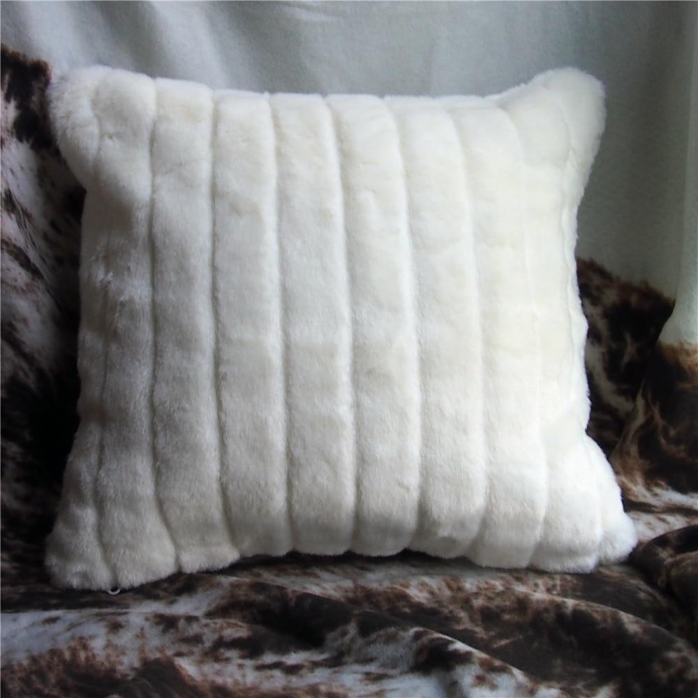 45x45cm 50x50cm Creative European White Faux Fur Cushion Pillow
