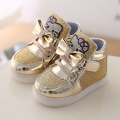 L&D Brand Kids Light Up Shoes, Cartton Baby Girls Casual Shoes Boys Sneakers, Spring Autumn Children's Led Light Shoes