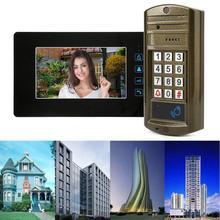 7inch Password Card Video Door Phone Wired Doorbell Kit With Electric Control Lock smart door bell motion sensor