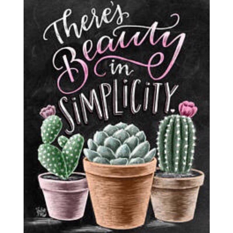 Cactus, 5d pintura diamante bricolaje Cactus, plantas de punto de - Artes, artesanía y costura