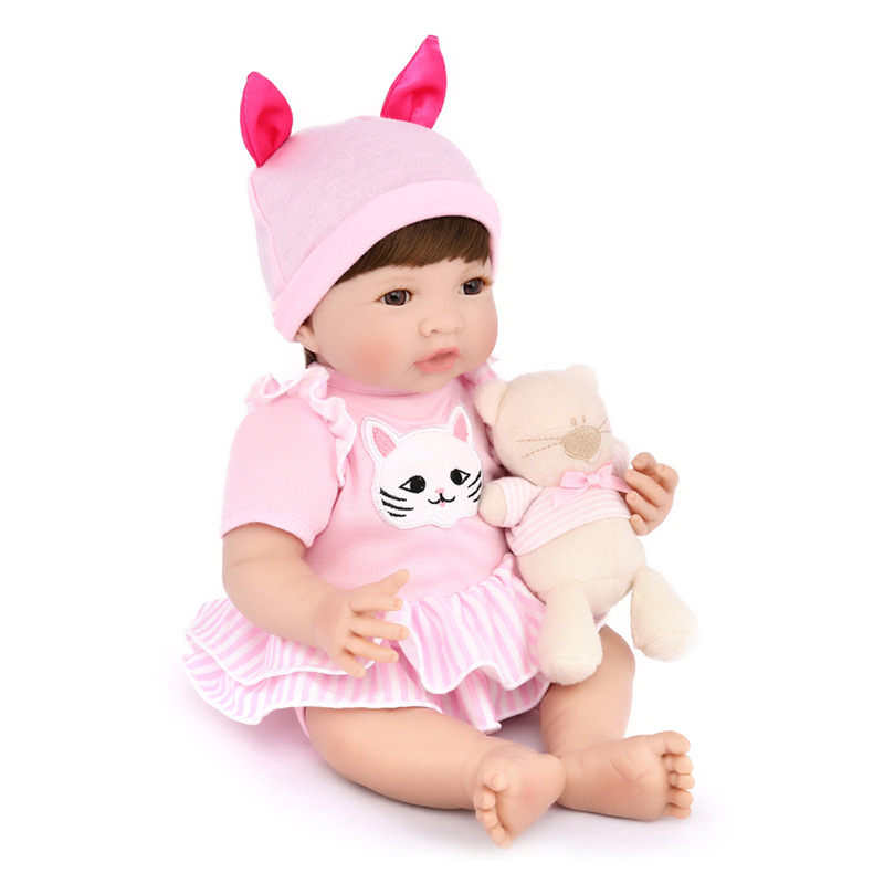 New Silicone Vinyl Doll Reborn Babies 35cm Dolls for Girl Toys Soft Body Lifelike Newborn Baby Boneca best Gift For Kids chid набор bosch дрель аккумуляторная gsb 18 v ec 0 601 9e9 100 адаптер gaa 18v 24