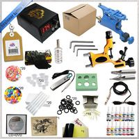 Hot Sell Starter 2 Rotary Tattoo Kit With Teaching CD Complete Tattoo Kit With Power Supply