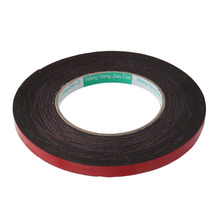 uxcell 10M Length 10mm Width 1mm Thickness Double-side Adhesive EVA Sponge Foam Tape Red, Black 1PCS Insulation Hot Sale