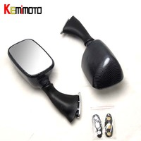 KEMiMOTO For Suzuki Rear View Mirrors for SUZUKI GSX1300R HAYABUSA GSXR1000 600 GSX R750 Carbon Look Motorcycle Parts