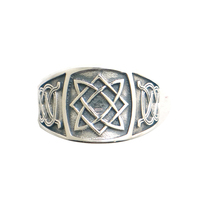 Size 6 To Size 13 Unisex 925 Silver Cool Vikings Slavic star of all Amulet Ring