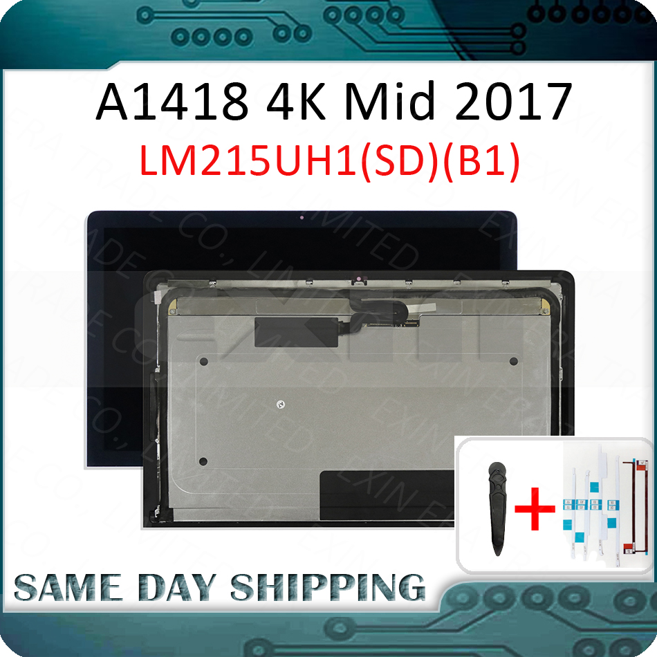 Mid 2017 New for Apple iMac 21.5'' A1418 4K LCD Screen Display w/ Glass Full Assembly LM215UH1(SD)(B1) EMC3069 MNDY2 MNE02