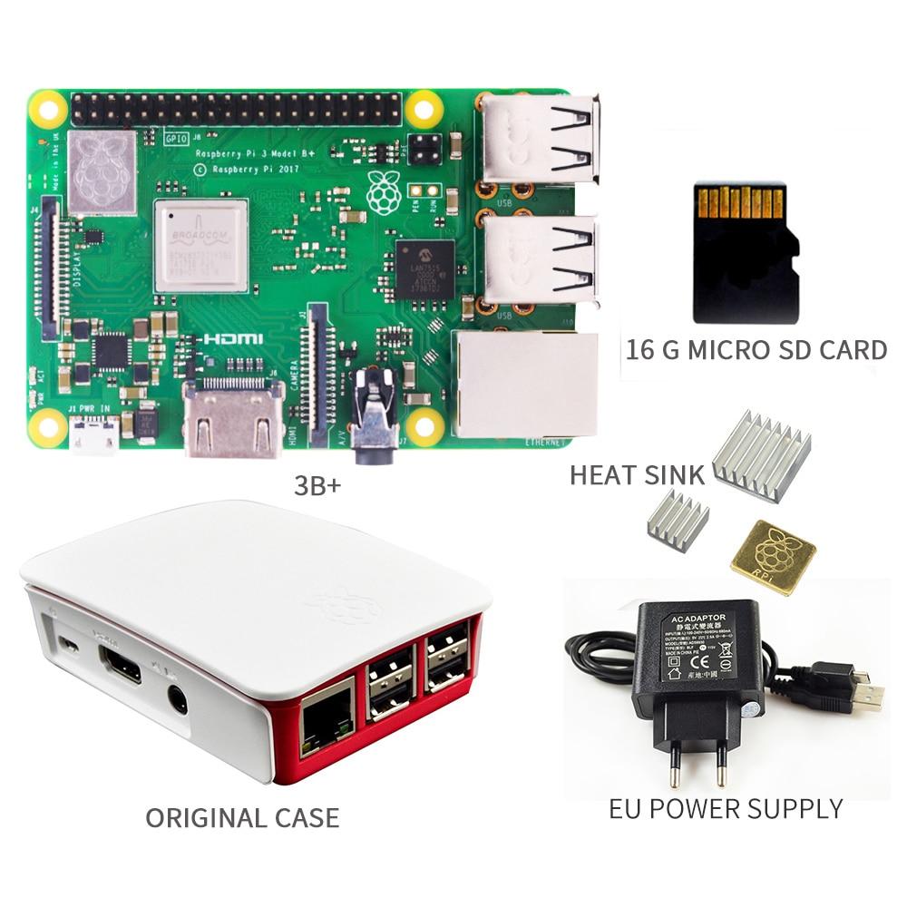 Image 3 - Оригинальный 2018 Новый Raspberry PI 3 Model B + плюс плата 1Гб LPDDR2 BCM2837B0 четырехъядерный Ras PI3 B, PI, 3B с поддержкой Wi Fi и Bluetooth-in Доски для показов from Компьютер и офис