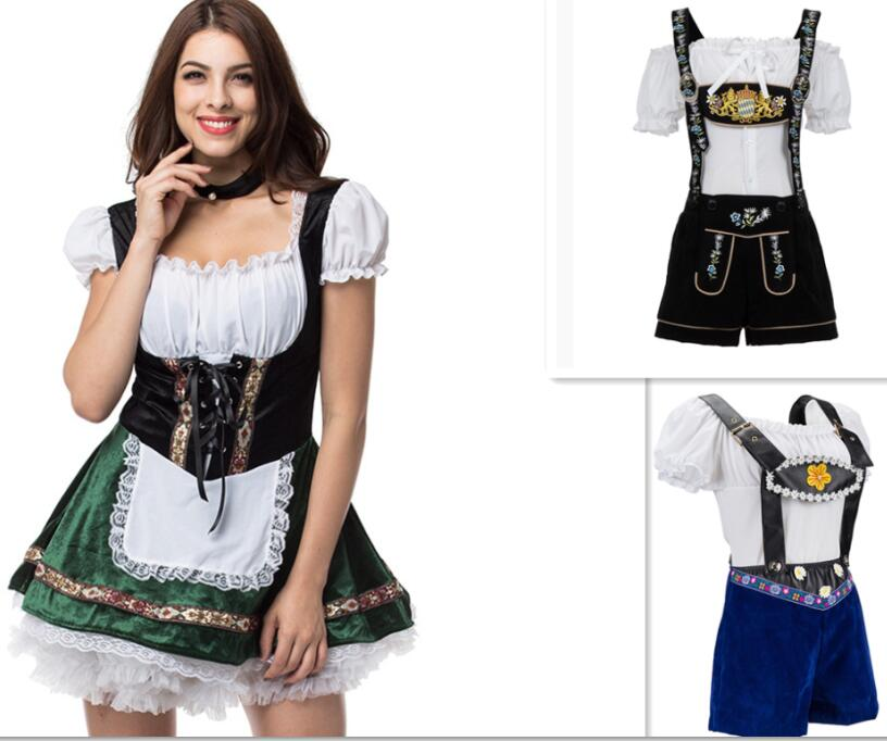women Ladies German Bavarian Oktoberfest Beer Maid Fancy Dress Costume <font><b>Lederhosen</b></font> costume Bavaria beer party drss