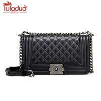 Chains Women Messenger Bags High Quality Female Flap Bag Designer Genuine Leather Women Handbags Luxury Women