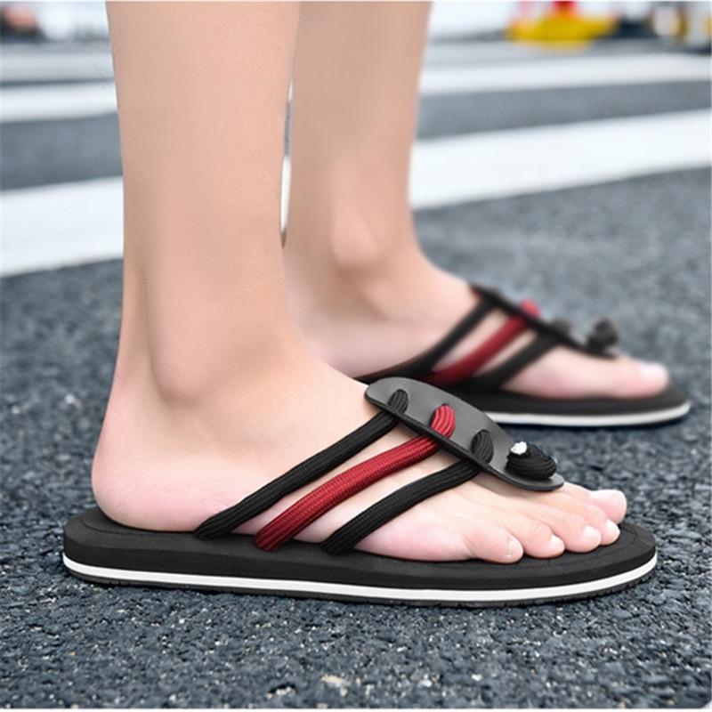 Summer new flip flops men's slippers tide drag Europe and the United - Men's Shoes - Photo 4