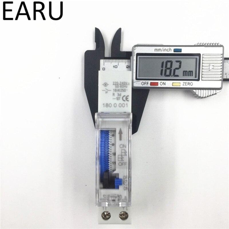 Messung Und Analyse Instrumente Freies Verschiffen Sul180a 15 Minuten Mechanische Timer 24 Stunden Timer Schalter Programmierbare Din Schiene Timer