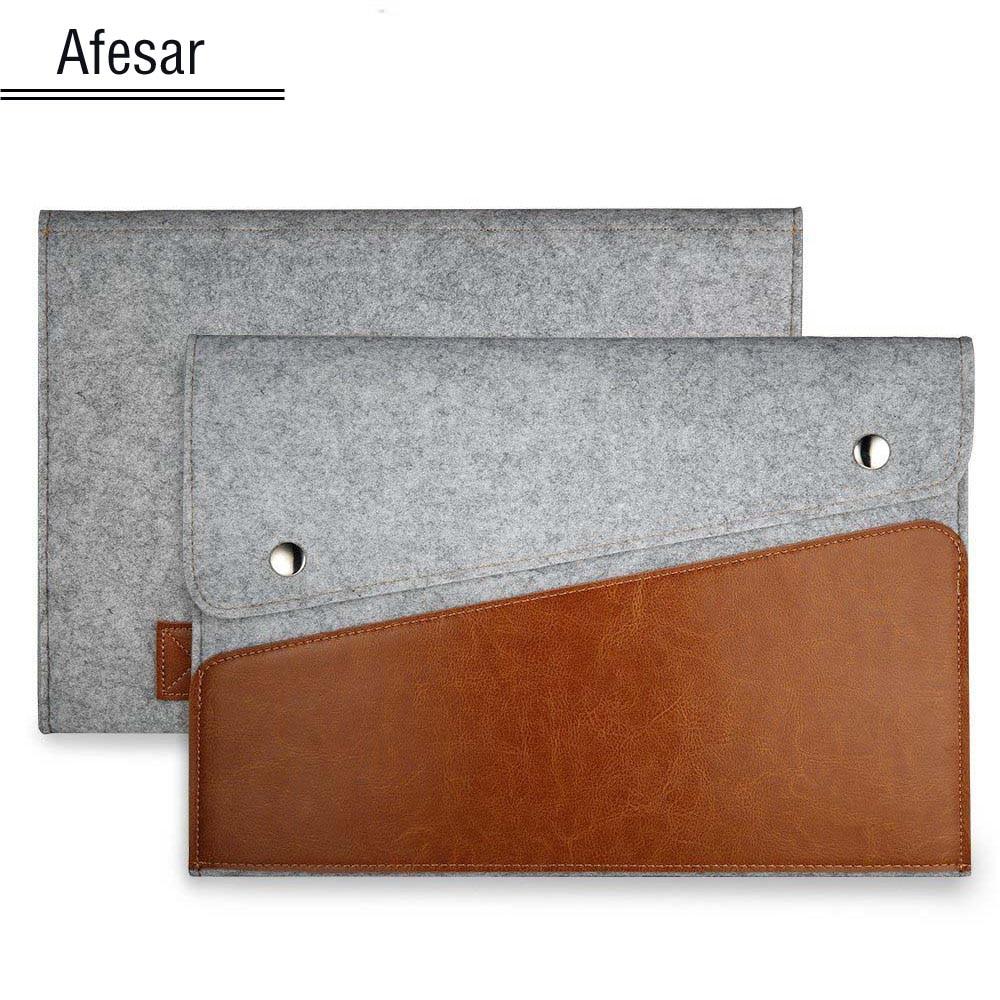 Äkta läderfodral väska till microsoft yta pro1 2 3 4 12 tums Ultrabook Laptop Felt Sleeve pouc portfölj bärväska