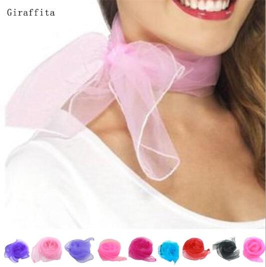 70*70cm Spring Summer Autumn Thin Silk Scarves Chiffon Georgette Women Scarf Summer Sun Headscarf Small Square Scarf