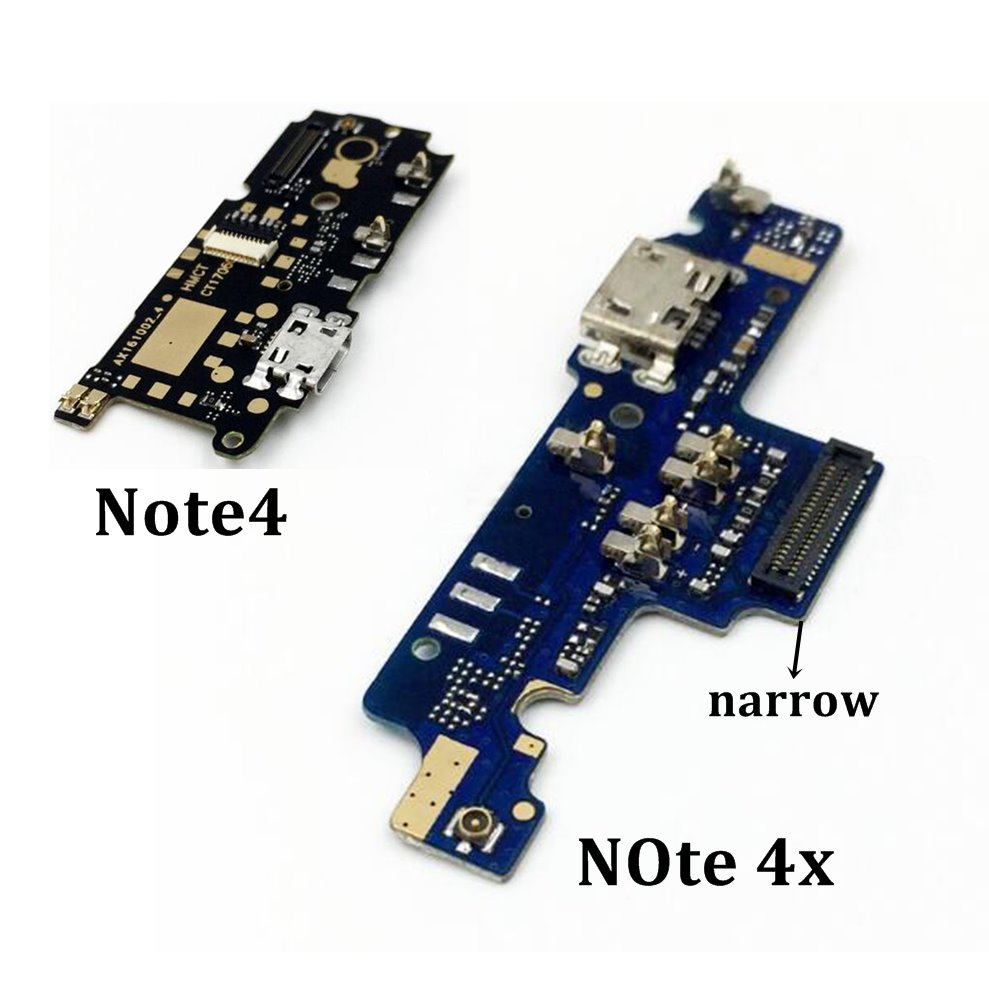 USB Port Charger Dock Plug Connector Flex Cable For Xiaomi Note 4X For Redmi Note 4 Charging Port Board Replacement