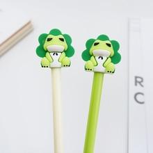2 pcs/lot Cute cartoon frog Gel Pen kawaii stationery School Supplies Office writting pens paperlaria
