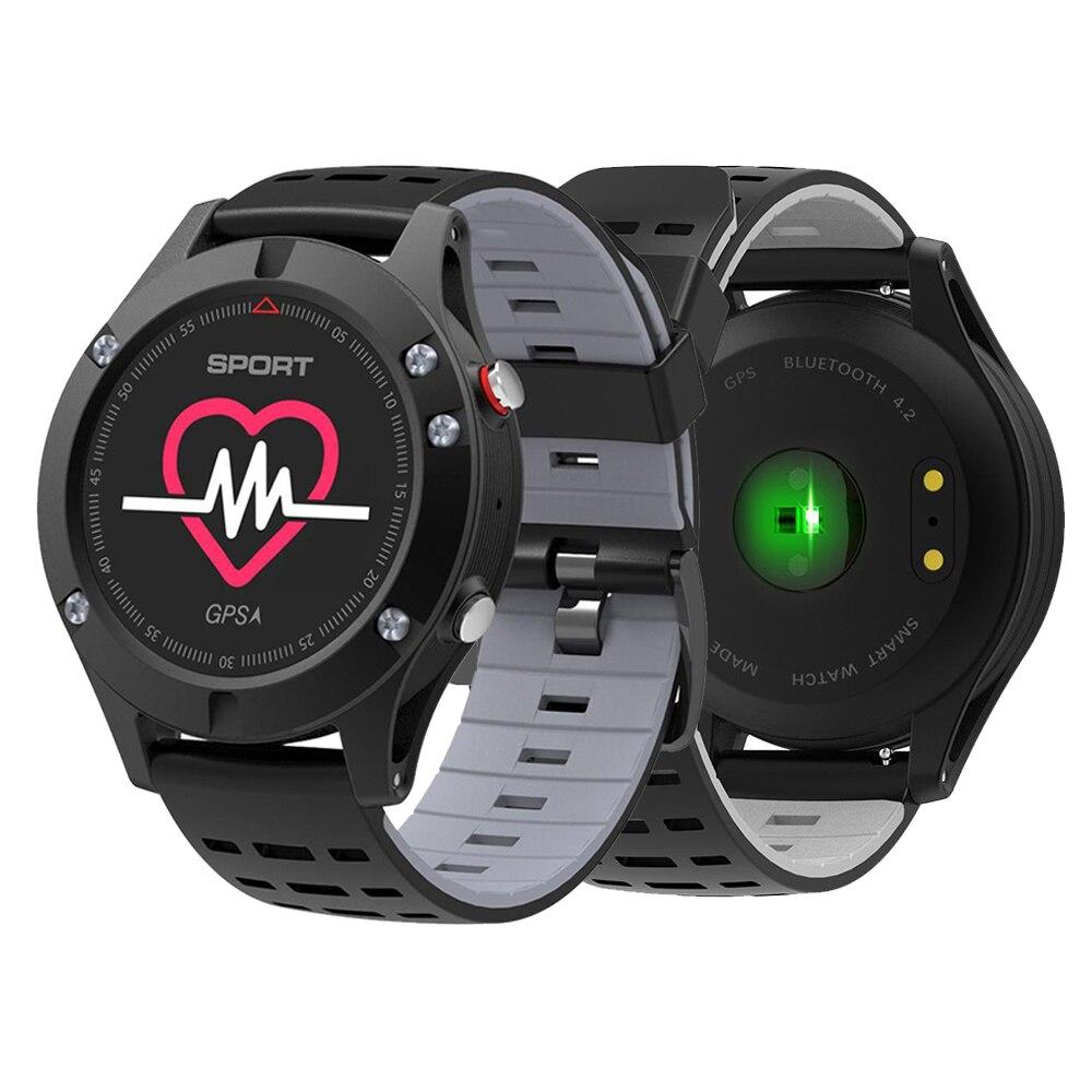 NO.1 1 F5 GPS Relógio Inteligente Wearable Dispositivos MTK2503 Altímetro Barômetro Termômetro Do Bluetooth 4.2 Smartwatch para Android IOS