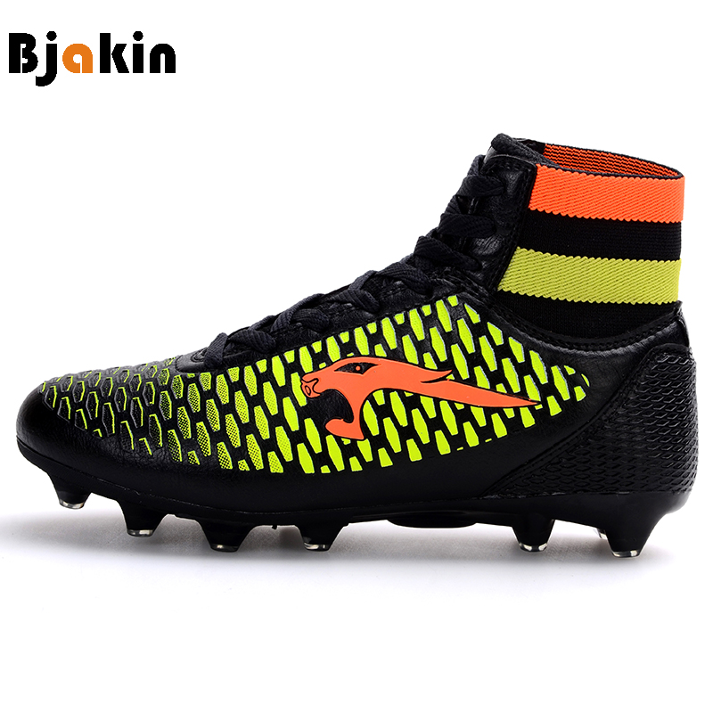 Bjakin New Adults Men Football Boots Hight Top Socks Soccer Shoes Hard Court Soccer Training Sneakers botas futbol voetbal