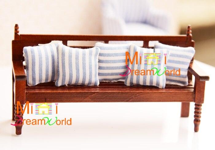 Мини кукольный домик мини мебель аксессуары для скамейки с подушками