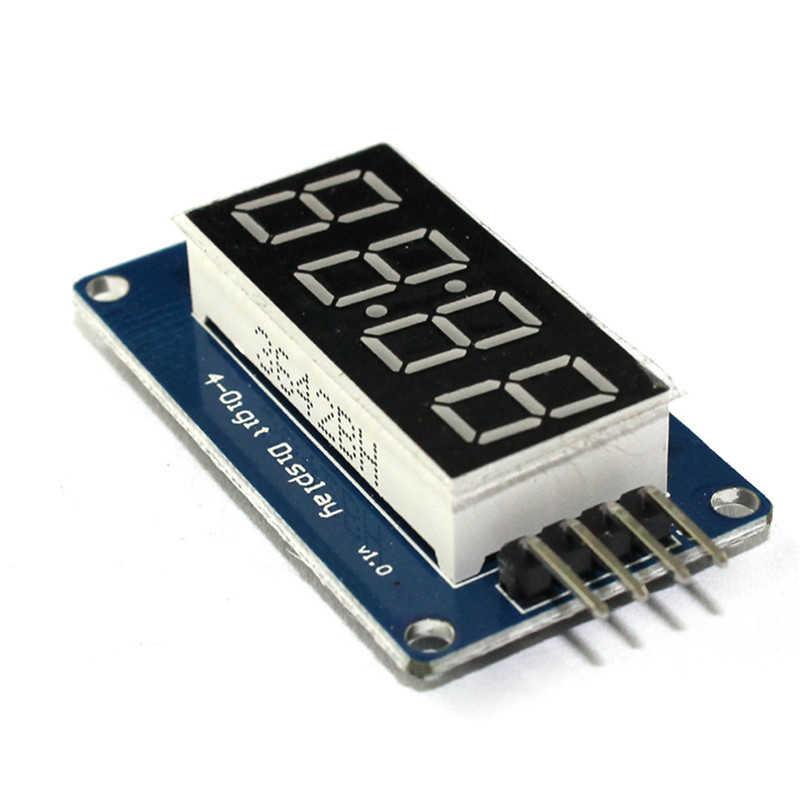 "TM1637 0.36 ""4-Digit LED Display Whitetube Desimal 7 Segmen Jam Double Dots MODUL UNTUK ARDUINO"