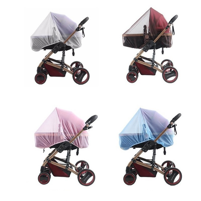 150pcs Wholesale White Infants Baby Stroller Pushchair Mosquito Insect Net Safe Mesh Buggy Crib Netting Cart Mosquito Net ZA0450