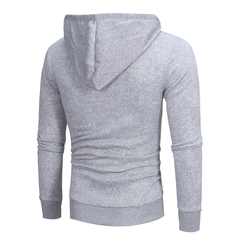 Sportswear men Solid casual High quality Cotton Slim Hoodies fashion men Drawstring Oblique zipper Cardigan Hooded Sweatshirt in Hoodies amp Sweatshirts from Men 39 s Clothing