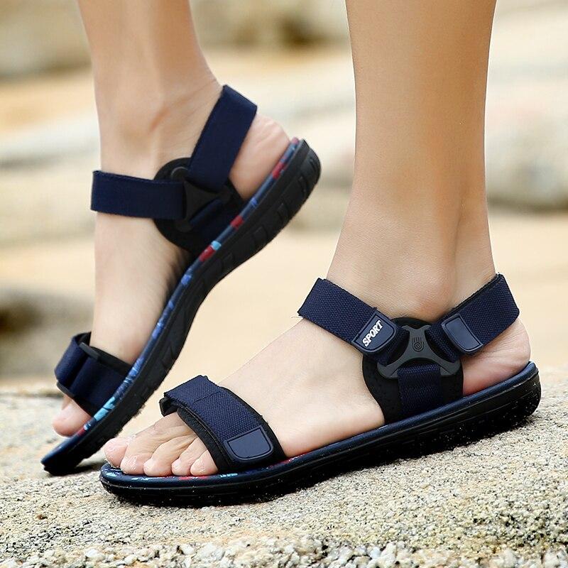 Men's Casual Shoes Plimsolls Summer Male Breathable Black Beach Sandals Outside Slippers Zapatillas Hombre Krasovki Tenis Adulto