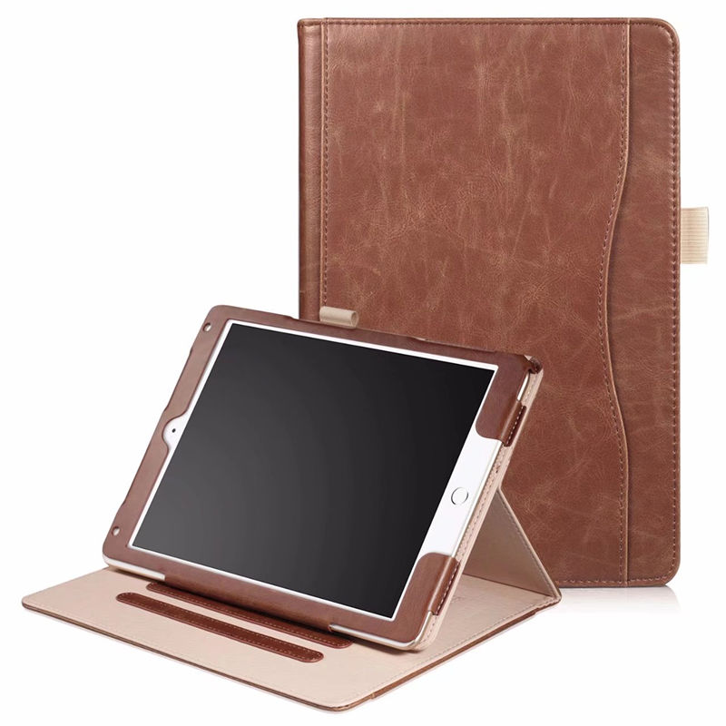For Apple iPad 9.7inch 2017 Cover Case PU Leather Hand Holder Case For New iPad 9.7 iPad9.7 A1822 A1823 Tablet Protective Cover sibaina for new ipad 2017 tablet case flip pu leather smart stand cover for ipad 2017 a1822 a1823 protective funda case cover