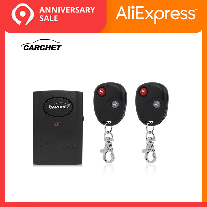 CARCHET Universal Motorcycle Bike Alarm Clock Wireless System Sensor Alarm Detector Lock 2 Remote Control Theft Protection 120db