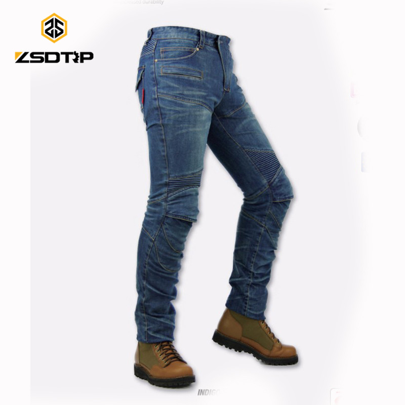 Explosion sale KO-MINE PK718 racing motorcycle riding jeans slim Biker pants  off-road women trousers with kneepad 50 52 big size fashion casual male denim pants biker jean hot sale trousers cotton classic straight jeans for man