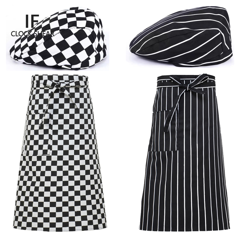 IF hot New Chef hat + apron, hotel restaurant kitchen work clothes apron antifouling oil easy to wash sets