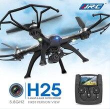 Nuevo Drone JJRC H25 5.8 G FPV RC Quadcopter con la cámara de 2MP 2.4 Ghz Quadcopter sin cabeza modo una tecla de retorno